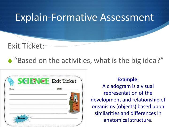 Explain-Formative Assessment