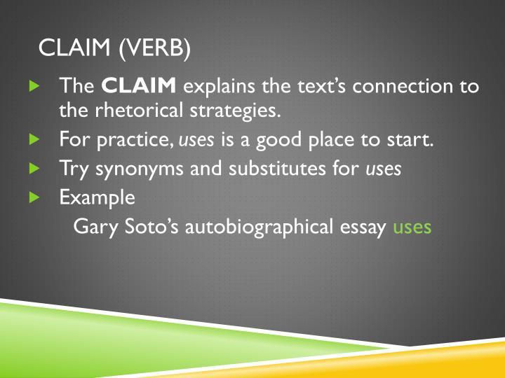CLAIM (VERB)