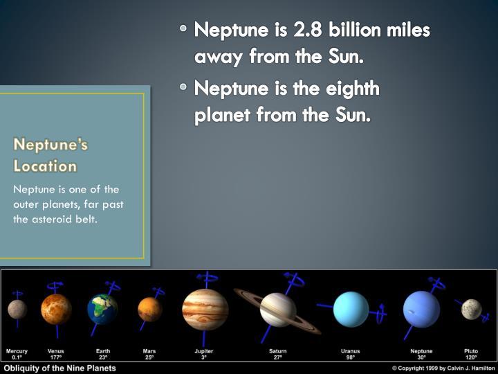Neptune s location