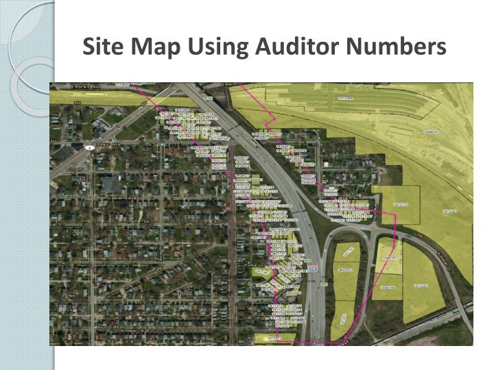 Site Map Using Auditor Numbers