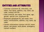 entities and attributes