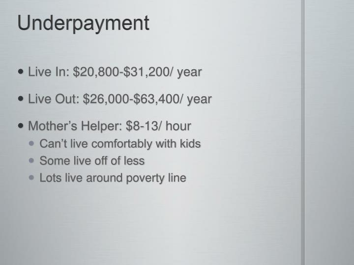Underpayment