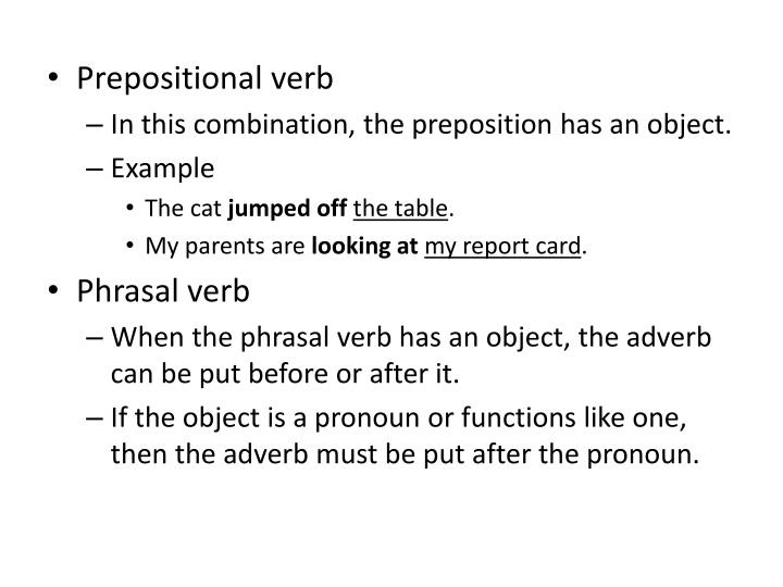 Prepositional verb