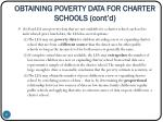 obtaining poverty data for charter schools cont d