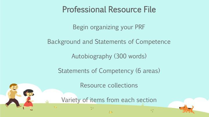 Professional Resource File