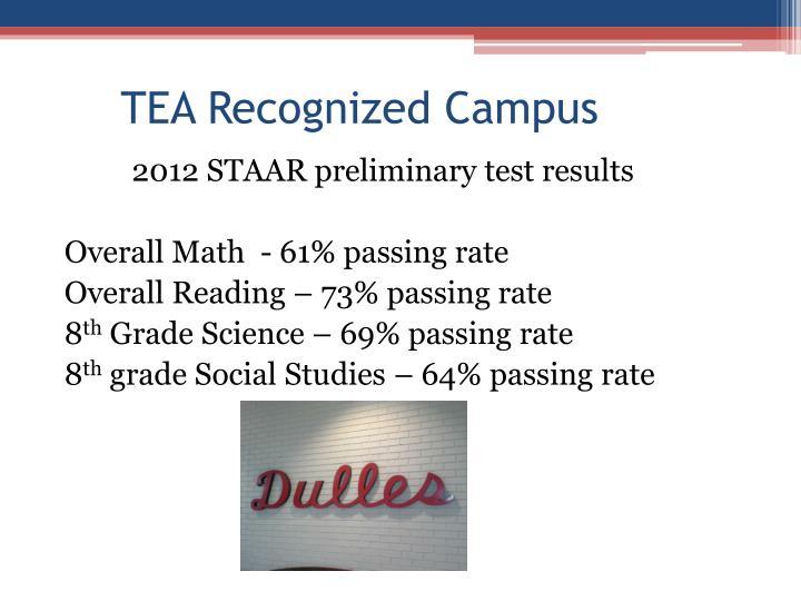 TEA Recognized Campus