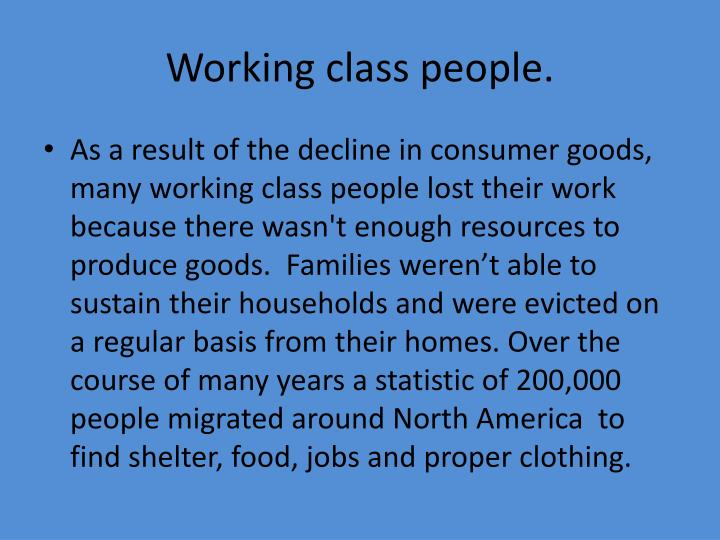 Working class people
