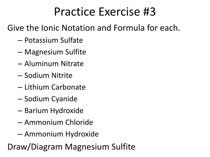 Practice Exercise #3