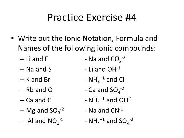 Practice Exercise #4