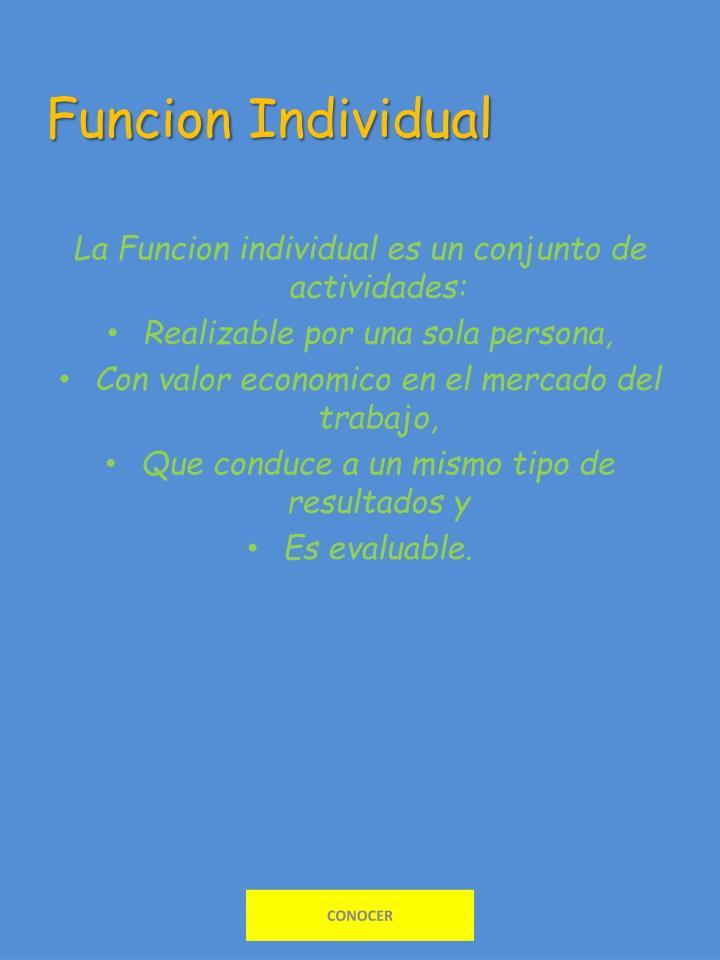 Funcion individual