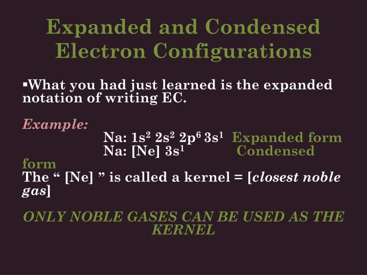 Expanded and Condensed Electron