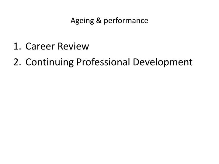 Ageing performance1