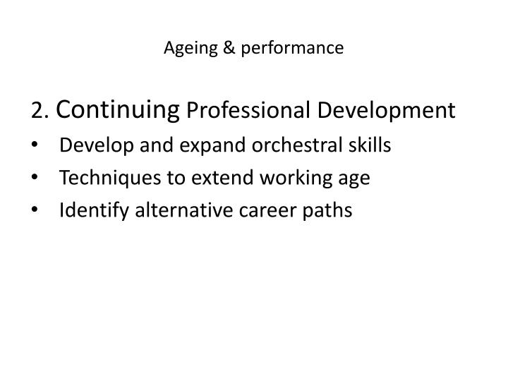 Ageing & performance