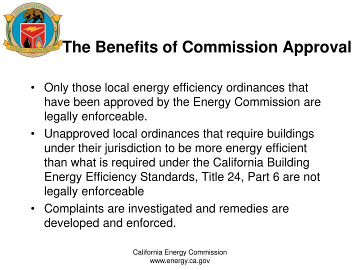 The Benefits of Commission Approval