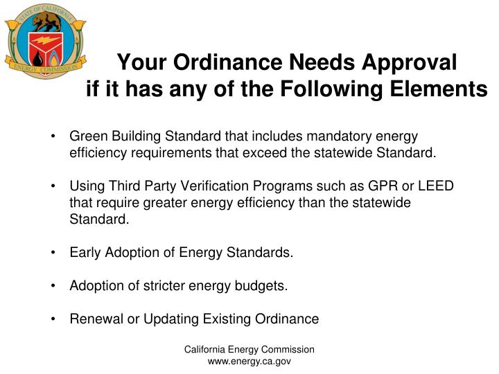 Your Ordinance Needs Approval