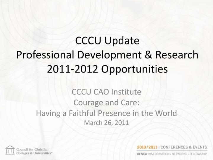 CCCU Update