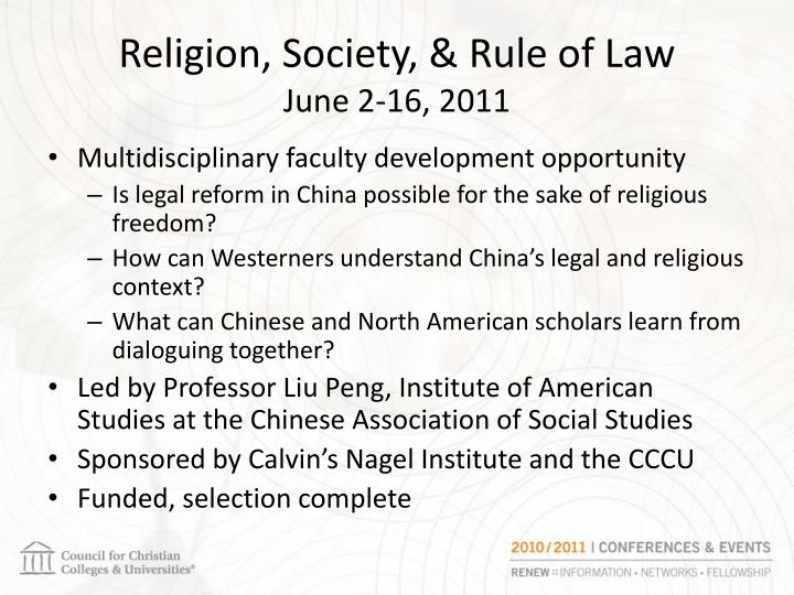 Religion society rule of law june 2 16 2011