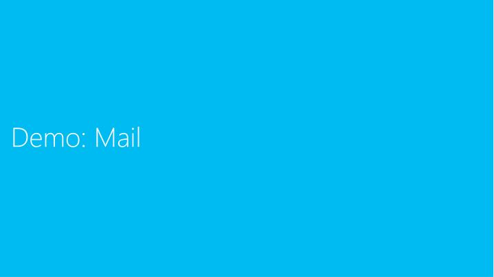 Demo: Mail