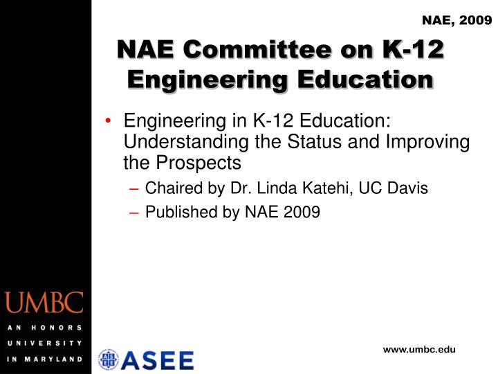 Nae committee on k 12 engineering education