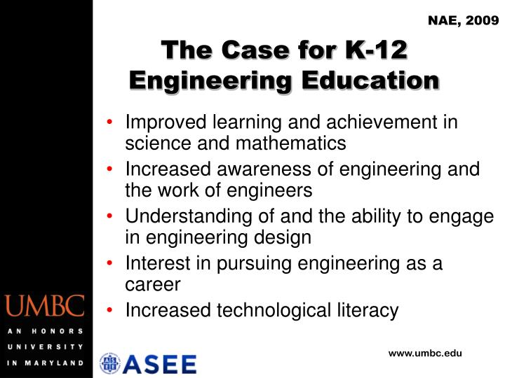 The case for k 12 engineering education