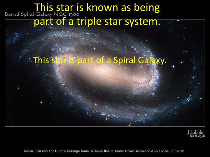 This star is known as being part of a triple star system