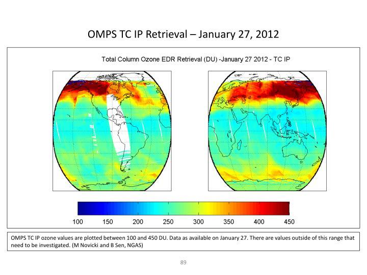 OMPS TC IP Retrieval – January 27, 2012