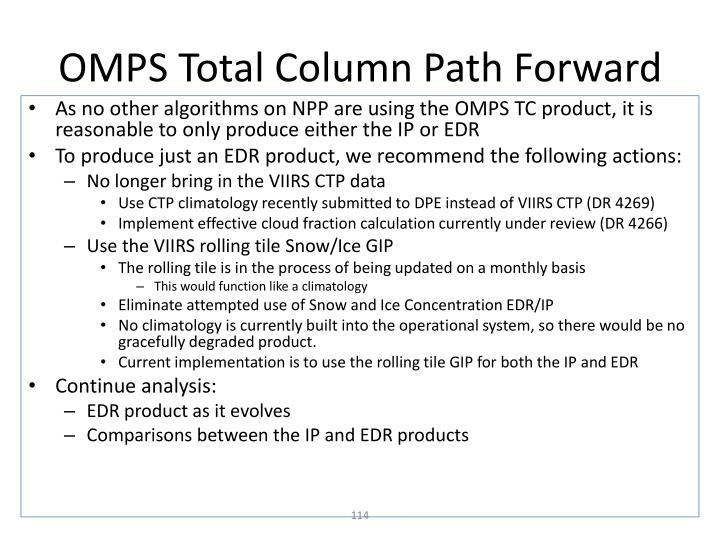 OMPS Total Column Path Forward