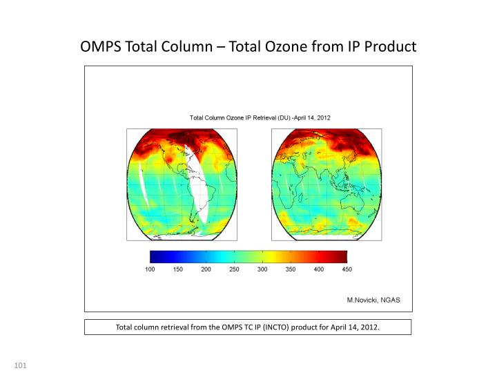OMPS Total Column – Total Ozone from IP Product