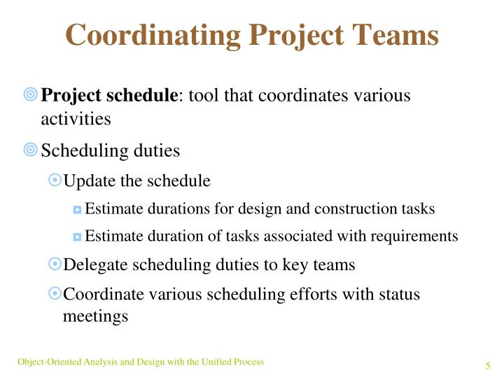 Coordinating Project Teams