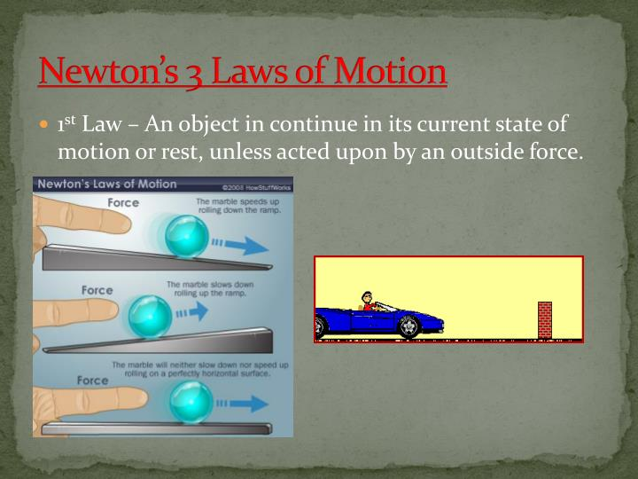 Newton's 3 Laws of