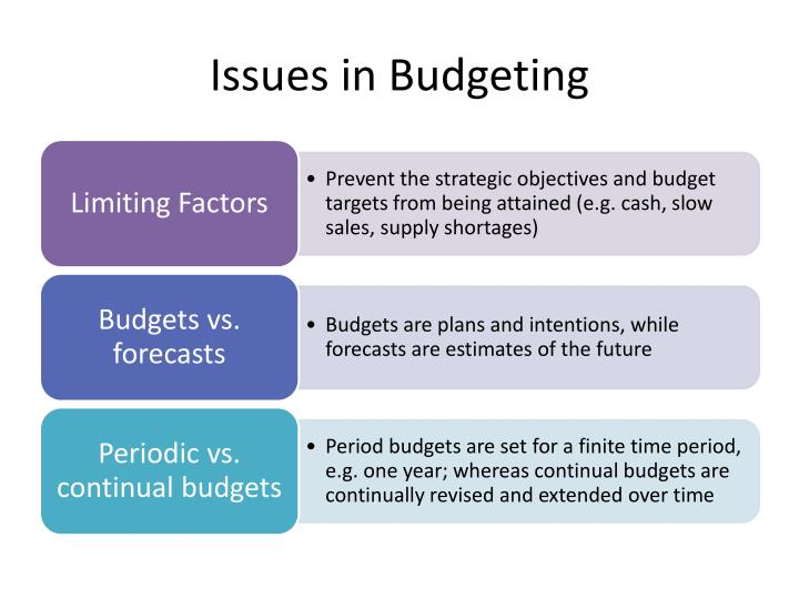Issues in Budgeting