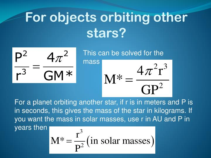 For objects orbiting other stars?
