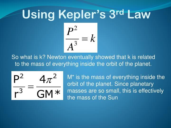Using Kepler's 3