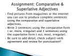 assignment comparative superlative adjectives
