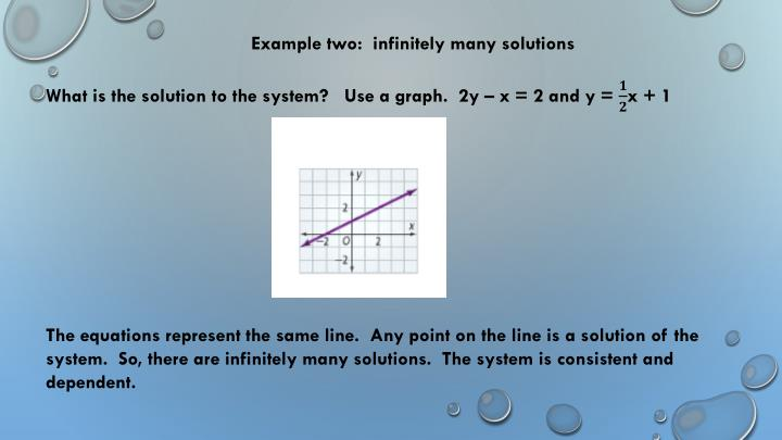 Example two:  infinitely many solutions