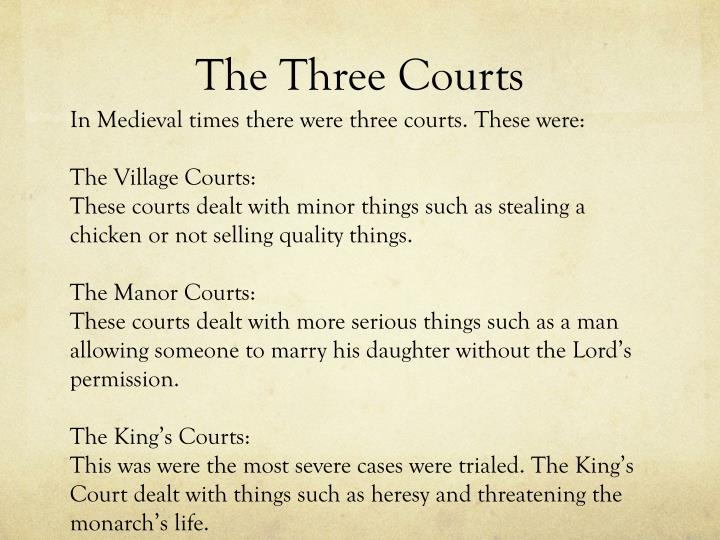 The three courts