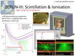 zeplin iii scintillation ionisation
