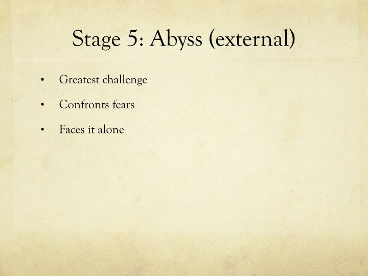 Stage 5: Abyss (external)