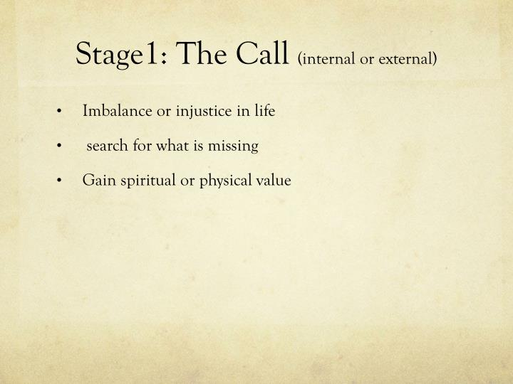 Stage1 the call internal or external