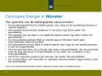 conclusies energie in m nster