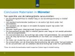 conclusies materialen in m nster