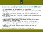 conclusies voedingsmiddelenindustrie in m nster