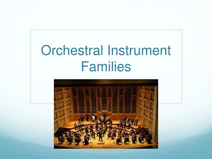 orchestral instrument families n.