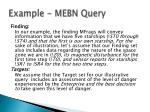 example mebn query