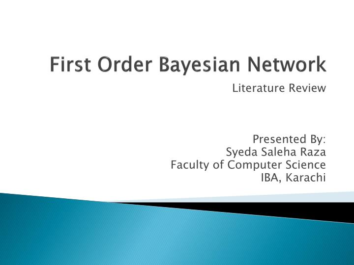 first order bayesian network