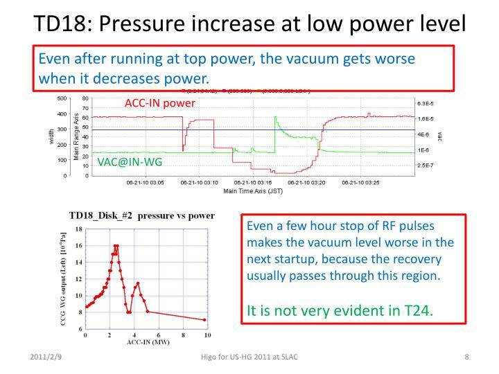 TD18: Pressure increase