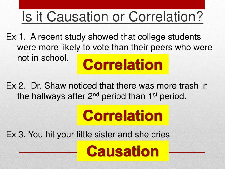 Is it Causation or Correlation?
