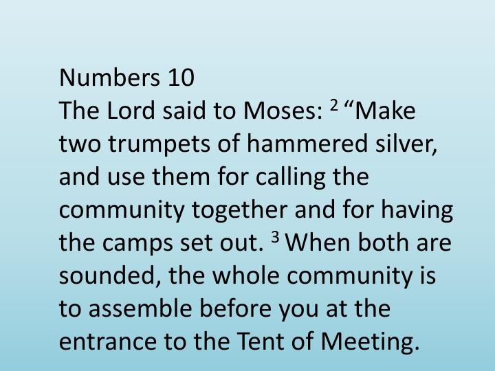 Numbers 10