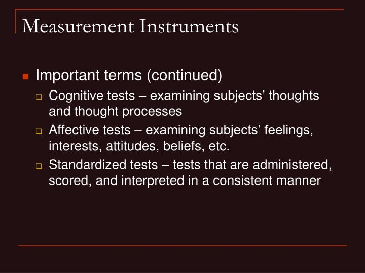 Measurement Instruments