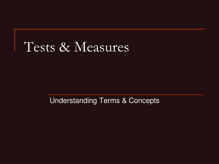 Tests measures